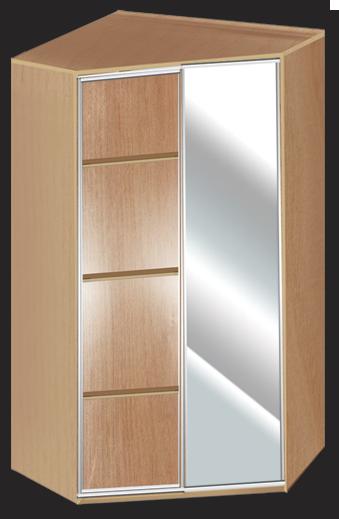 Дверь зеркало 1 дверь модерн 3
